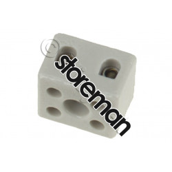 Domino porcelaine 6mm² bipolaire - 0003338 - UNIVERSEL